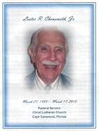 Les Chenowith Memorial Service and page - March 22 2015