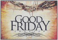 Good Friday bulletin cover image showing a Crown of Thorns and more