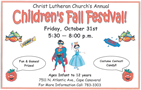 Children's Fall Festival party on Halloween night page.  Check it out!