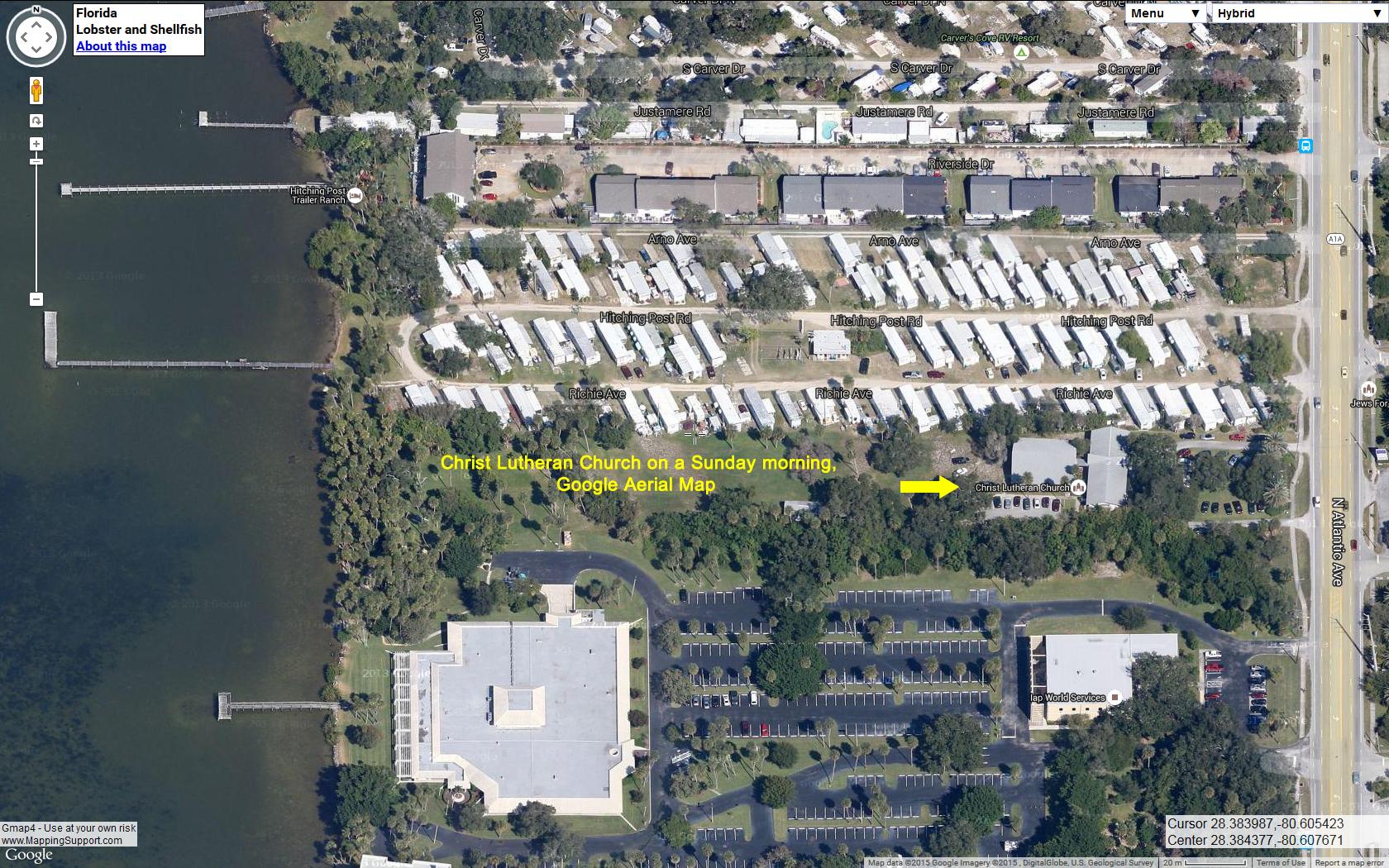 Google-Aerial-Map-of-Christ-Lutheran-Church-Sunday-morning