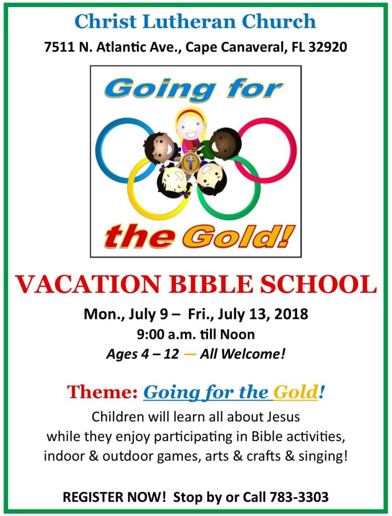 "Vacation Bible School - ""Going for the Games"" - Flyer"