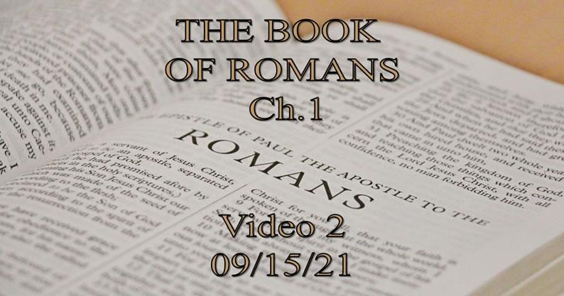Book of Romans - 09-15-21